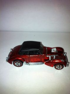 Redline Hot Wheels Classic Cord Red Hotwheels US Original Top