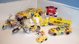 Racing Champs Hot Wheels NASCAR M Ms 1 24 1 64 Die Cast Car Loose Lot