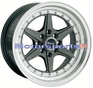XXR 501 Gun Metal Deep Dish Wheels Rims 4x100 Stance 03 06 Scion xA xB