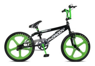 Kids Teens BMX Bike 20 Green Skyway Mag Wheels Black RS43
