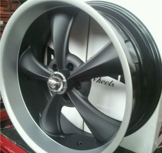 Ridler 695 18 Rims Wheels Matte Black Camaro GTO Nova Chevelle Belair