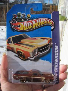 2013 Hot Wheels Super Treasure Hunt 71 El Camino Light And Dark