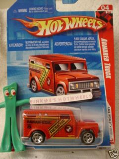 New 2010 Hot Wheels Paramedic Armored Truck 182★RED★