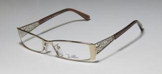 New Emilio Pucci 2110 52 16 135 Gold Brown Full Rim Eyeglass Glasses