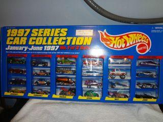 1997 Hot Wheels Series Car Collection Jan June 24 Car Set Limited Ed 1