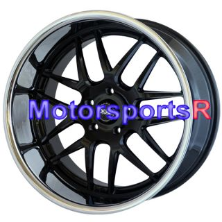 20 XXR 526 Black Polished Lip Rims Staggered Wheels 5x120 08 BMW 645CI