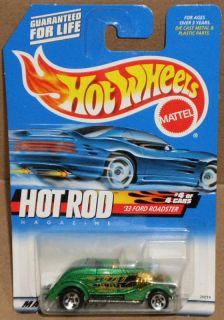HW #008 33 FORD ROADSTER Collector Hot Rod Magazine green Hot Wheels