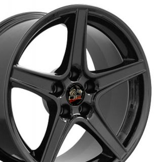 18 9 10 Black Saleen Style Wheels Rims Fit 94 04 Mustang® GT
