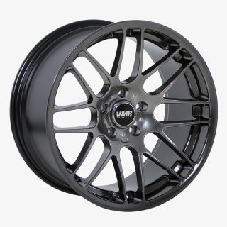18 VMR VB3 Hyper Black Wheels Rims Fit BMW E46 1995 2005 3 Series