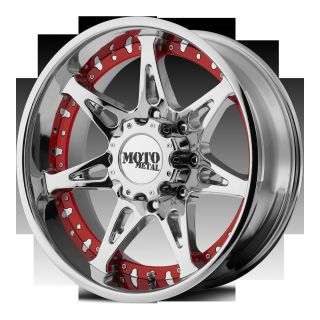 18 Moto Metal MO961 Chrome Wheels Rims 5 6 8 lug Ford Chevy Jeep Dodge