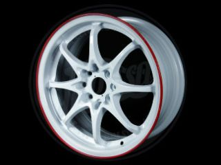Spun Rims CE White Red Lip 16x7 4x100 Civic Integra CRX