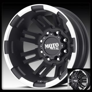 METAL MO963 BLACK MACHINED CK3500 RAM F250 F350 DUALLY WHEELS RIMS