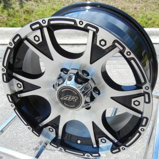 OF 4 17 BLACK AMERICAN RACING DAGGER WHEELS RIMS FORD F250 F350 8X170