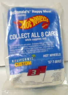 Hot Wheels 57 T Bird McDonalds Premium 1990 Packaged