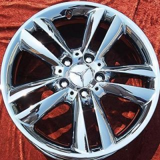 OF 4 NEW 17 MERCEDES BENZ CLK350 OEM CHROME WHEELS RIMS 65388 EXCHANGE