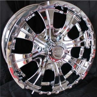 18 Inch 18x8 5 CHROME RIMS 6 Lug Wheels Chevy Tahoe GMC Toyota Tacoma