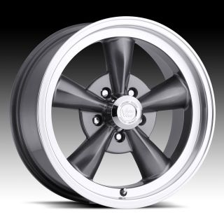 15 inch 5x4 5 Gunmetal Legend 5 Wheels Rims 5 Lug Ford Fairlane