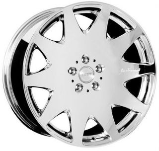 Chrome Wheels Set for Mercedes W221 S550 S400 S500 S63 S65 Rims