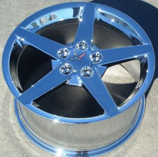 Factory 18 19 Chevy Corvette Chrome Alloy Wheels Rims C6 Z51