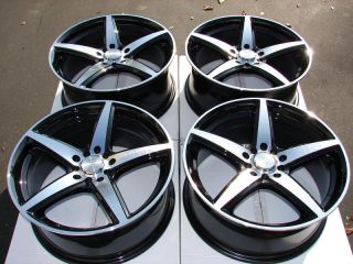 Black Wheels Lexus Prelude Cavalier Eclipse Camry CL 5 Lug Rims