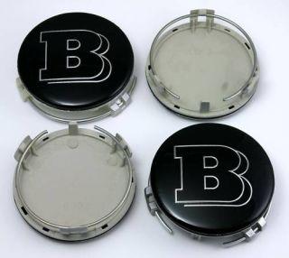 Mercedes Benz 4 x Brabus Wheel Rim Center Caps SL CLK