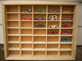 20 WOOD w glass Matchbox Hot Wheels Toy Car Truck Nascar DISPLAY CASE