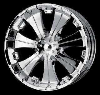 26 x9 5 Veloche 950 Villano Chrome Wheels Rims Free Lug