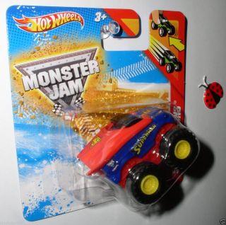 Hot Wheels Superman Mini Monster Jam Speed Demons Pull Back 2012 Last