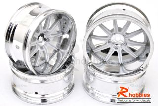 Racing Touring DRIFT Car 10 Spoke 9mm LP26 DRIFT Wheels Rims S W