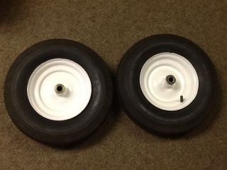 Wheel Horse Suburban RJ 58 59 Front Rims with Tires 4 80 4 00 8
