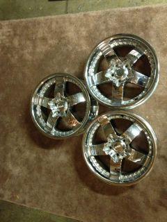 18 Damani Vanquish Chrome Rim Wheels Set of 3