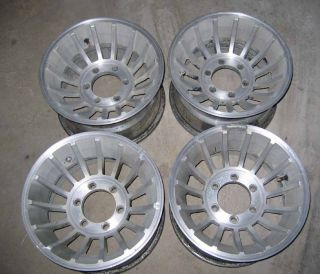 VTG Chevy Truck Turbine Wheels 15 X 8.5 Rims 6 Lug 4X4 1/2 Ton & fits