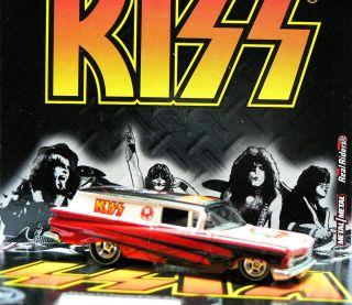 Hot Wheels 2012 Nostalgia Tour Rides Kiss 59 Chevy Delivery H Case