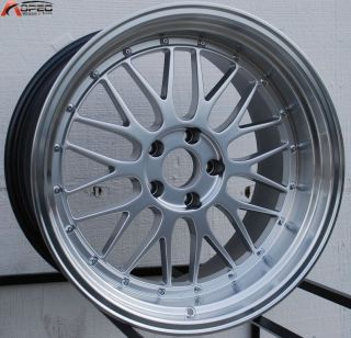 19x9 5 R 19x11 5x120 Hyper Silver Rim Wheels Fit BMW 335i M3