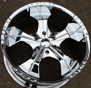 Panther Realm 280 22 Chrome Rims Wheels Nissan Armada QX56