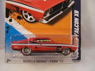 2012 Hot Wheels #120 73 FORD FALCON XB CUSTOM Super Treasure HUNT w