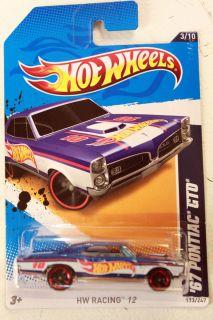 Hot Wheels 2012 HW Racing 3 10 67 Pontiac GTO Blue