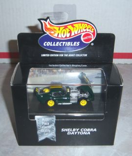 Hot Wheels   Shelby Cobra Daytona (Dark Green w/Double Yellow Stripes
