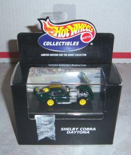 Hot Wheels   Shelby Cobra Daytona (Dark Green w/Double Yellow Stripes