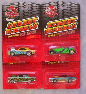 Racing Champions Street Wheels 69 Hurst Olds 55 Chevy 68 Camaro 97