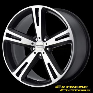 Racing AR885 Villain Black Machined 5 Lug Wheels Rims Free Lugs