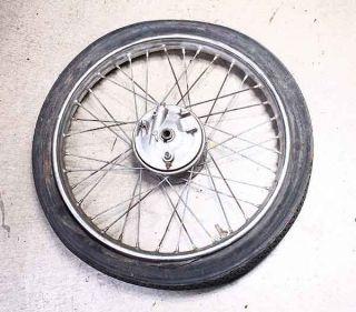 66 68  Allstate Puch Sabre 50cc Front Wheel Rim Hub Brake Drum