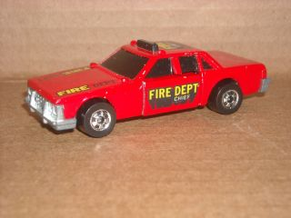 1983 Hot Wheels Fire Chief Crash Car Hong Kong