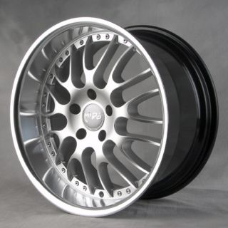 366 RIMS WHEELS HYPER SILVER POLISH LIP 19x8 5 35 5x120 4 NEW WHEELS