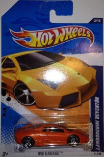 LAMBORGHINI REVENTON HW GARAGE SERIES 3 10 ORANGE HOT WHEELS CAR 71