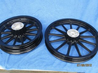 FXD XL All Black Powder Coated Wheels O E M Black Is Back EXC