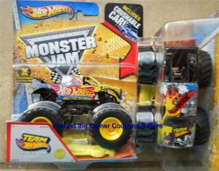 HW TEAM HOT WHEELS FIRESTORM Monster Jam New TOOL 1 64 TRUCK Truck