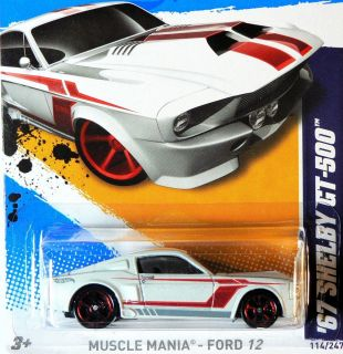 67 Shelby GT 500 Mustang * RARE * 2012 Hot Wheels * New M Case Muscle