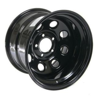 Cragar Soft 8 Black Steel Wheels 15x10 5x4 75 Set of 5