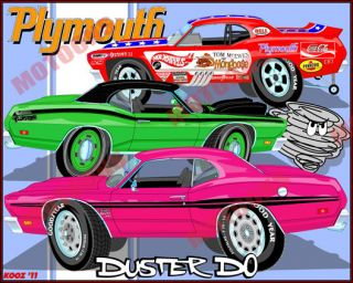 70 71 Plymouth Duster Tribute art 340 Twister Hot Wheels Mongoose